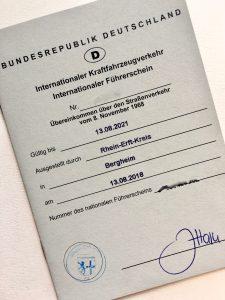 internationaler Führerschein beantragen