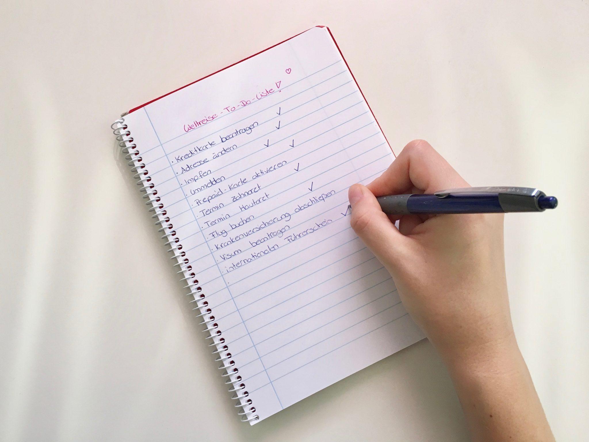 Weltreise Vorbereitung: Meine Checkliste