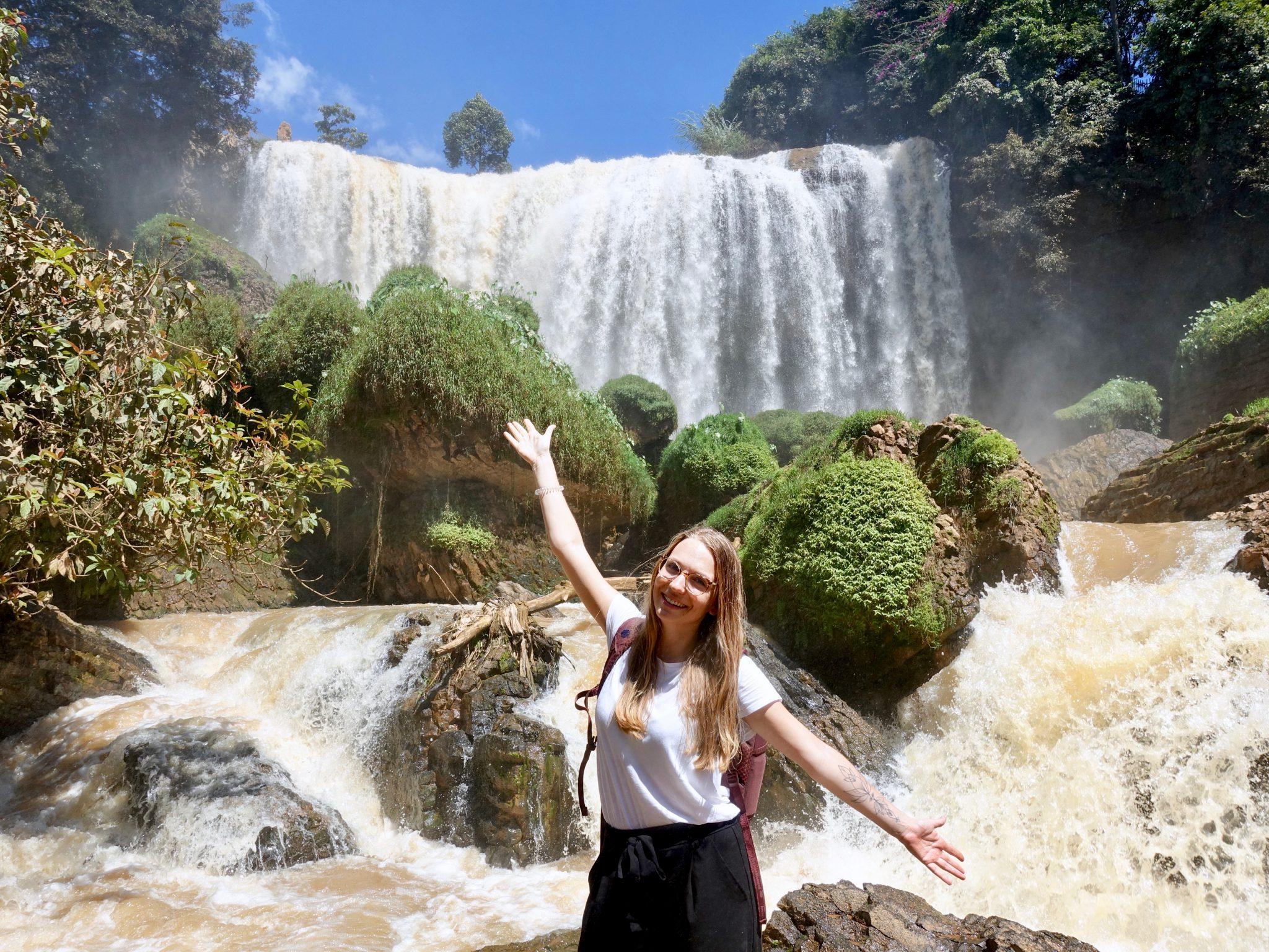 Weltreise Wasserfall Da Lat