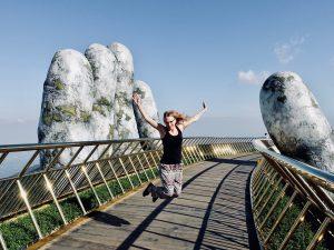 Route Vietnam Golden Hands Bridge Weltreise
