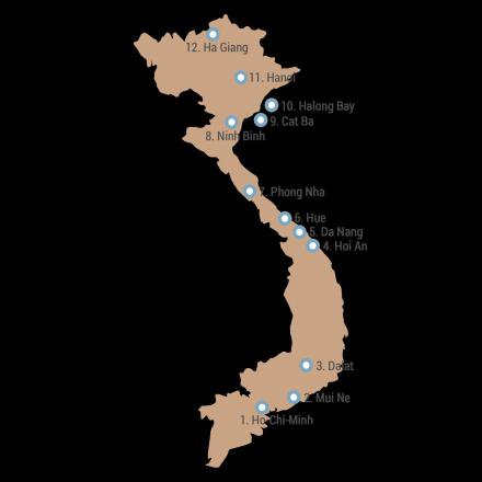 Meine Route durch Vietnam
