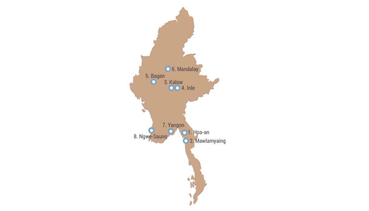 Meine Myanmar Route