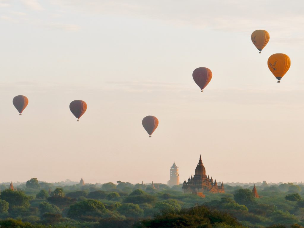 Route Myanmar Bagan