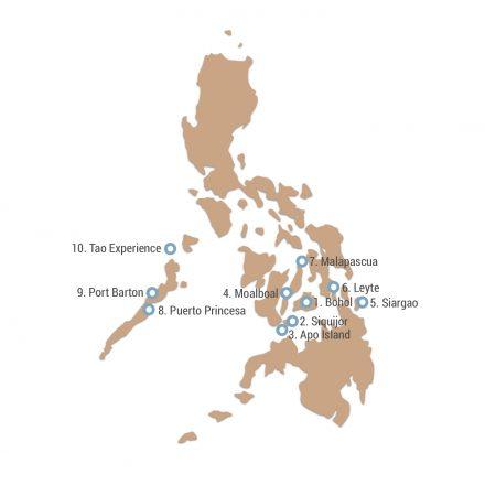 Meine Philippinen Route in 8 Wochen