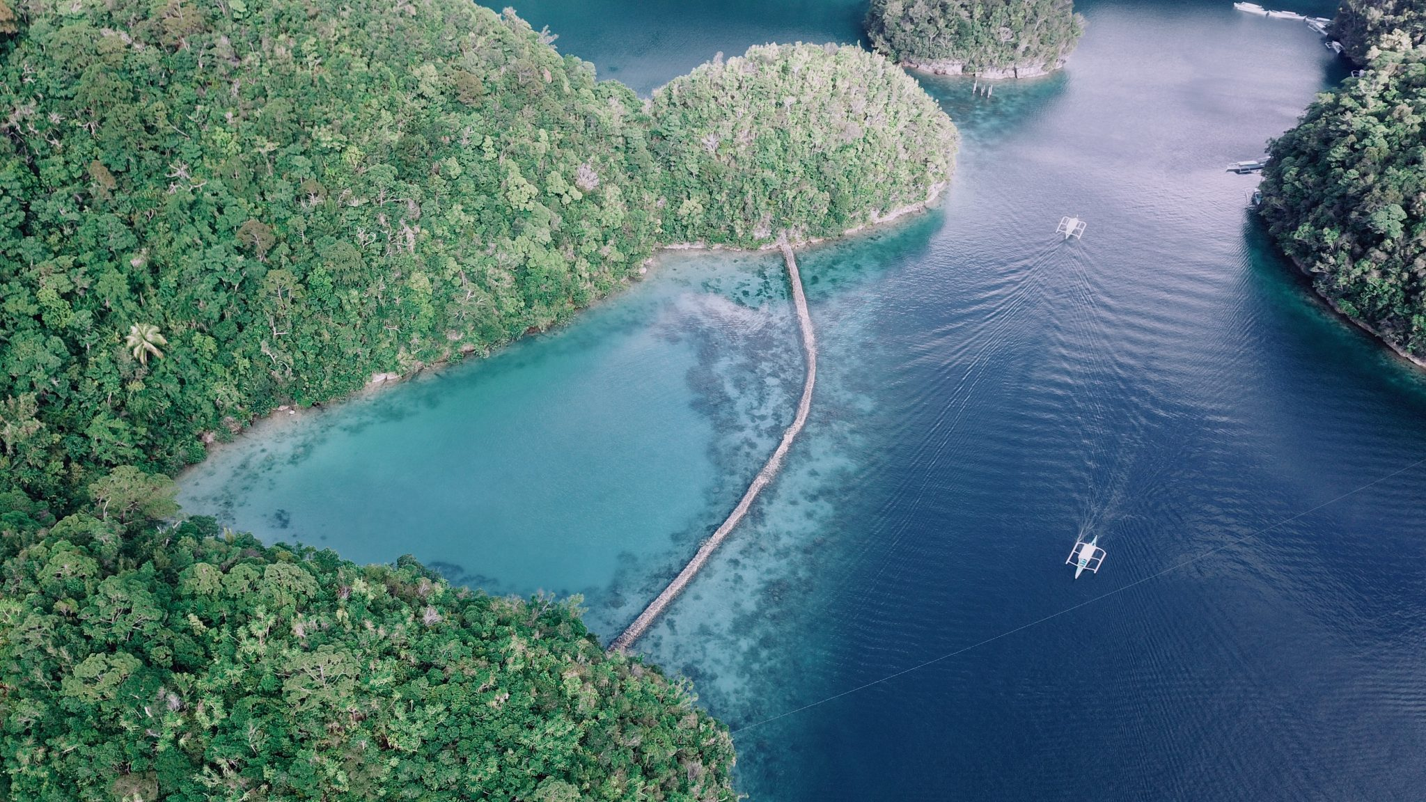 Philippinen Route Sugba Lagoon