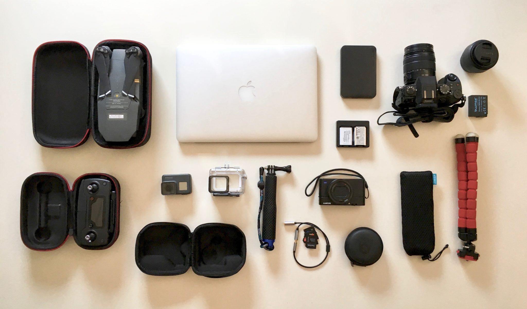 Weltreise Packliste Technik