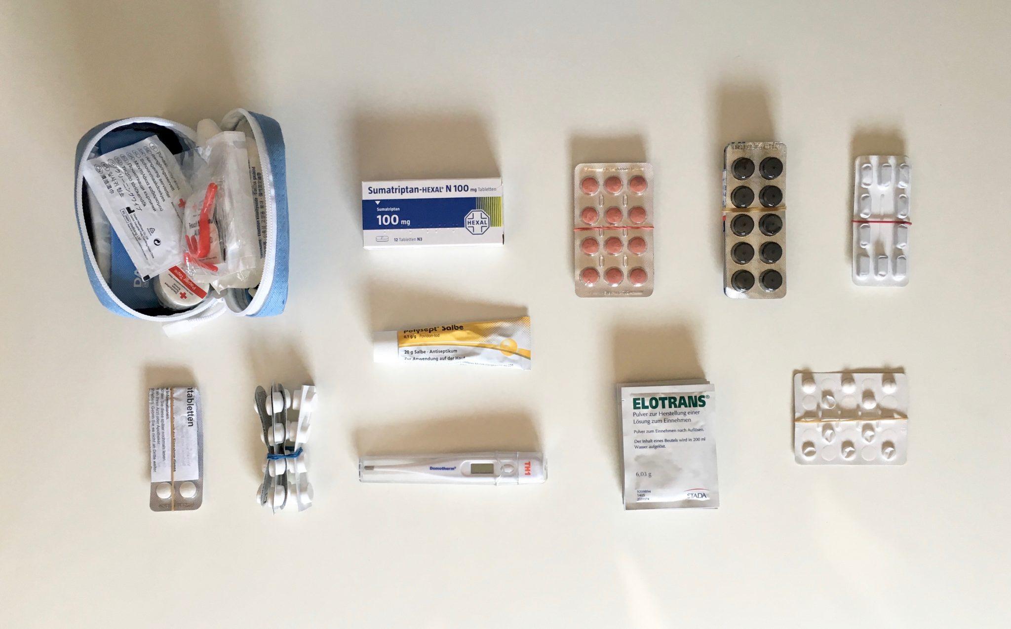Weltreise Packliste Medikamente