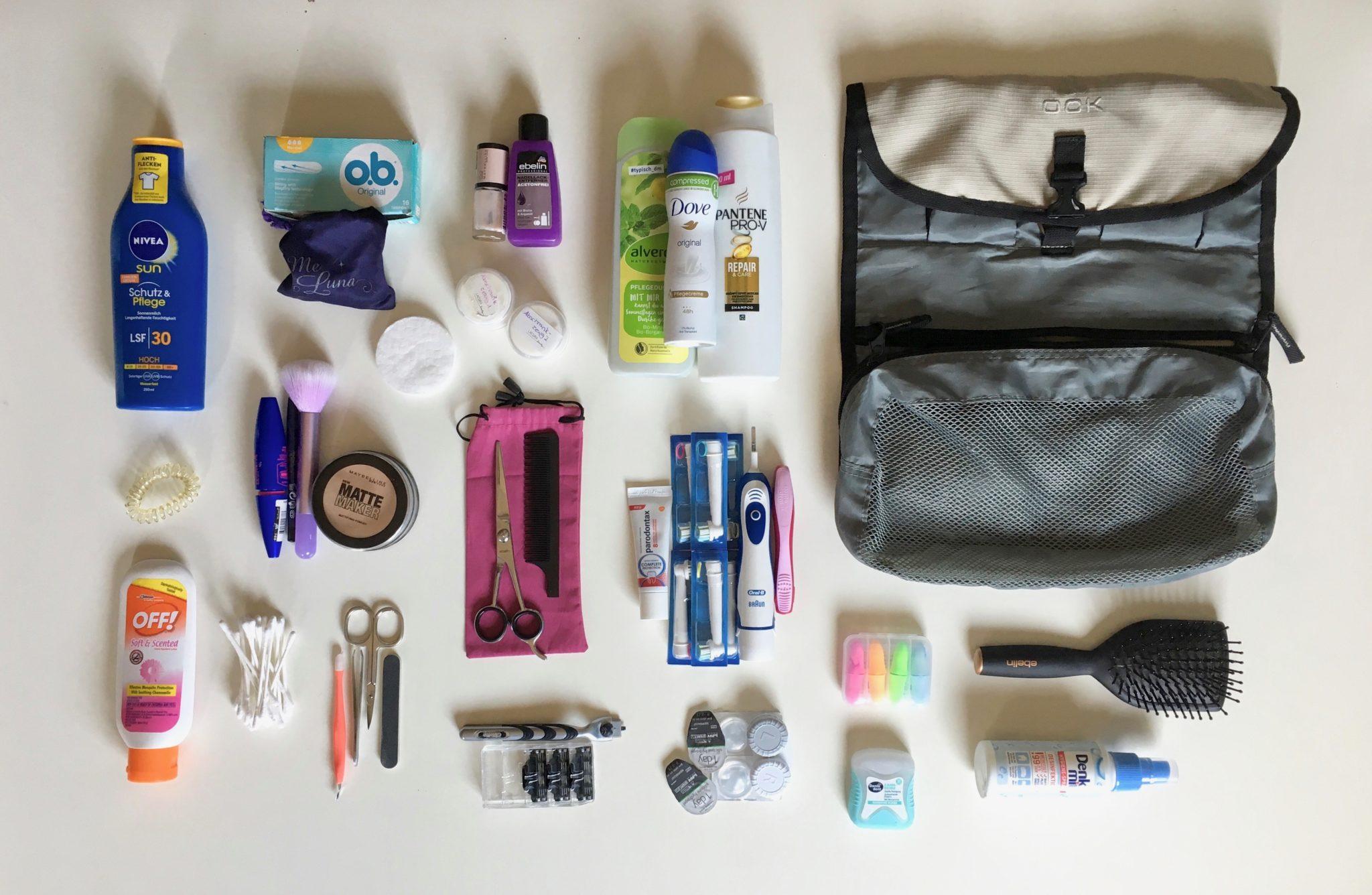 Weltreise Packliste Kosmetika