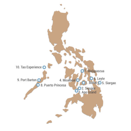 Philippinen Route in 8 Wochen