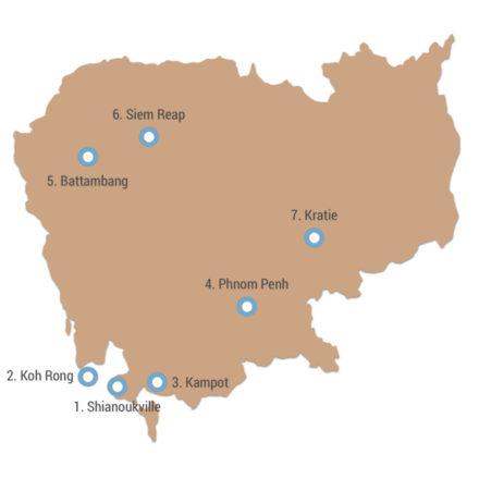 Route durch Kambodscha in 4 Wochen