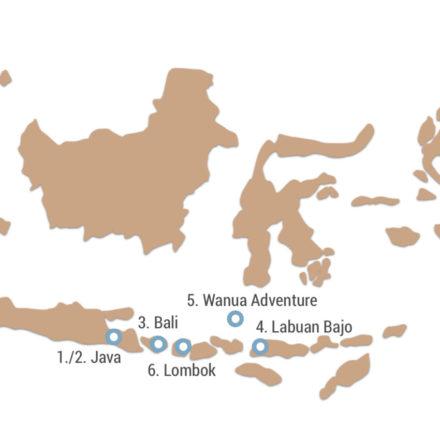 Meine Route durch Indonesien
