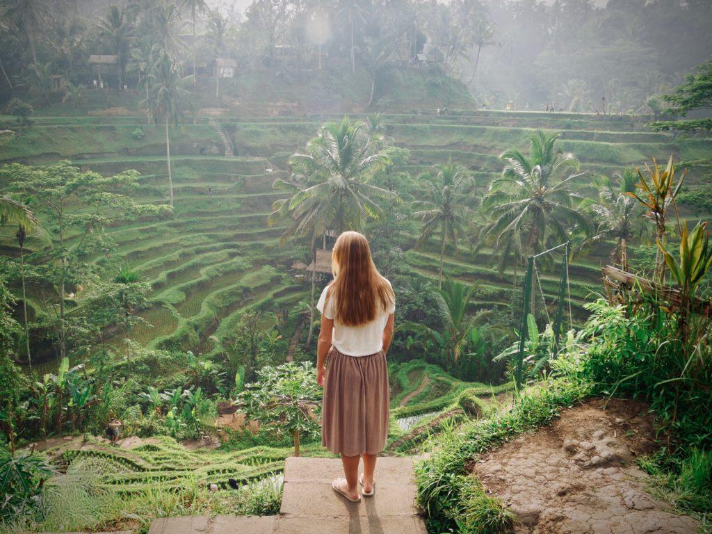Tegalalang Reisfelder Route Indonesien Bali